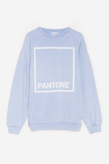 Blue Paint a Picture Pantone Graphic Sweatshirt