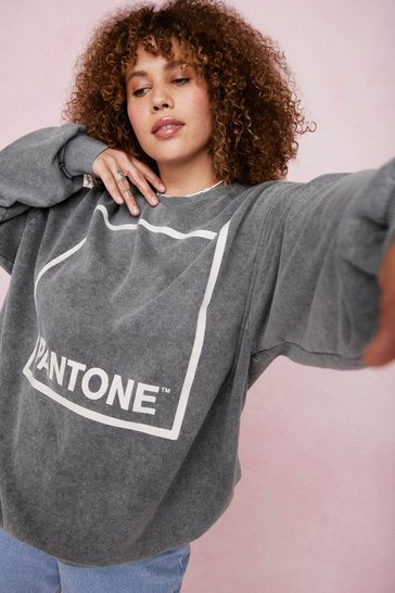 Grey Paint a Picture Pantone Oversized Graphic Sweatshirt