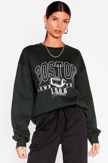 Forest Boston to a Winner Oversized Graphic Sweatshirt