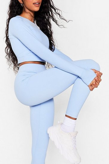 Light blue Daily Cardio High-Waisted Workout Leggings