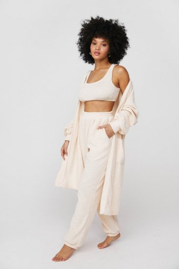 Cream Knit Fast Forward Chenille 3-Pc Lounge Set
