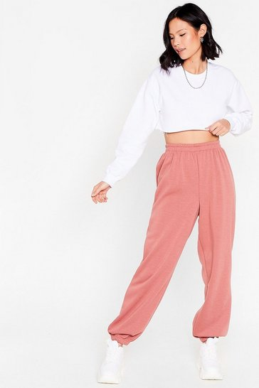 Rust pink Comfort is Queen Oversized Joggers