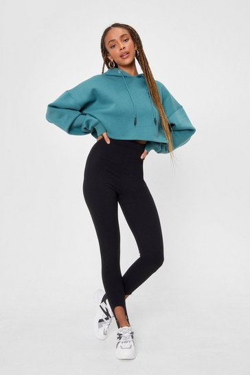 Black Stir Things Up High-Waisted Stirrup Leggings
