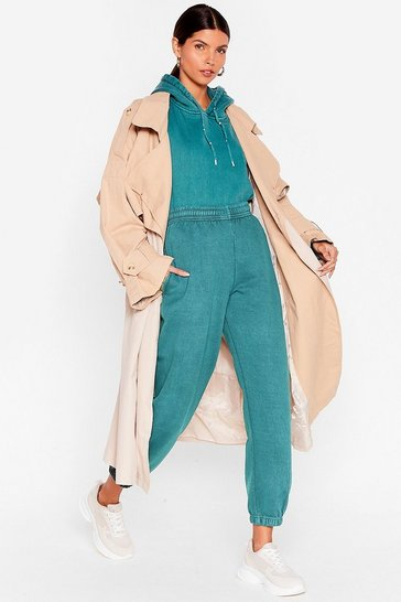 Teal Get Your Sweat On Cuffed High-Waisted Joggers