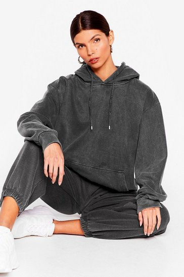 Charcoal Get Your Sweat On Oversized Hoodie