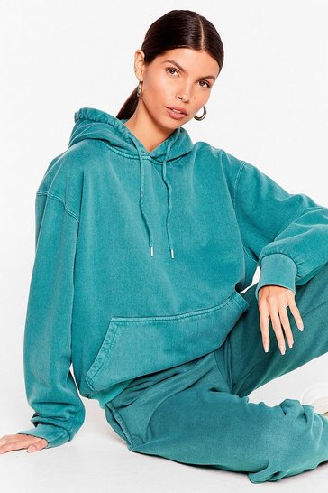 Teal Get Your Sweat On Oversized Hoodie