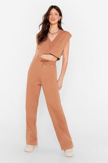 Camel Time Two Chill Crop Top and Joggers Lounge Set