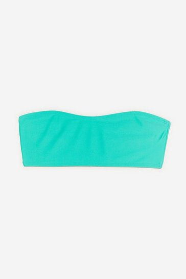 Green Let's Go Beaches Bandeau Bikini Top