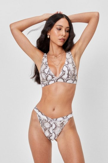 Stone Hiss is the Life Snake High-Leg Bikini Set
