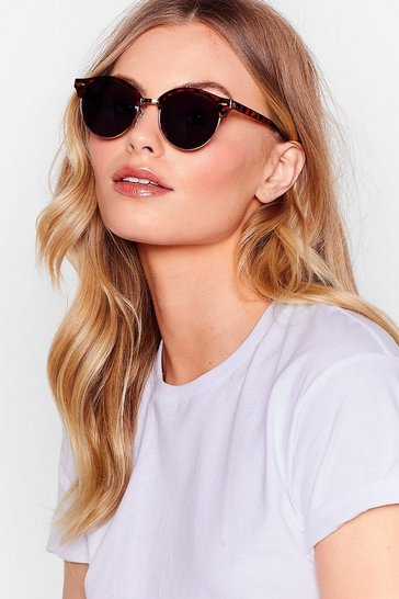 Brown So Shady Tortoishell Cat-Eye Sunglasses