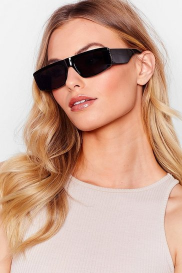 Black Hall of Frame Thick Tinted Sunglasses