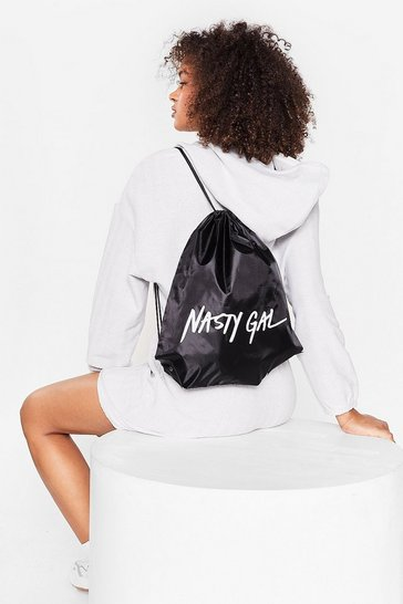 Black On Brand Nasty Gal Sports Backpack