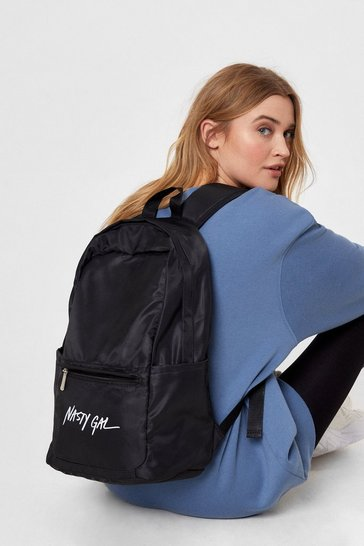Black On Brand Nasty Gal Graphic Backpack