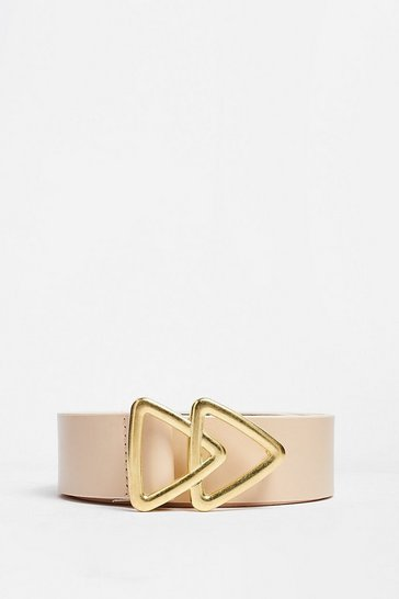 Stone Triangle Your Luck Faux Leather Belt