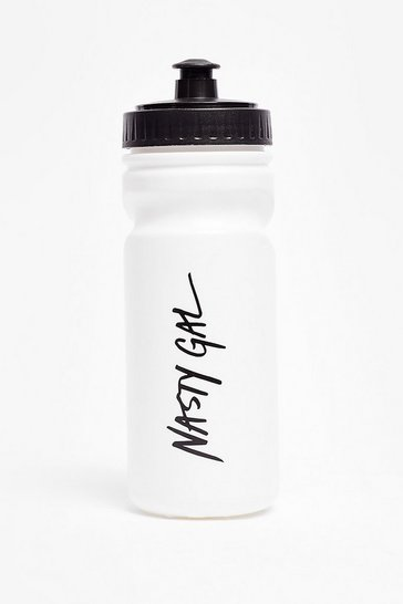 White Nothing But a Nasty Gal Pull-Up Water Bottle