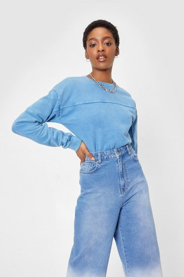 Denim Don't Sweat It Acid Wash High-Leg Bodysuit