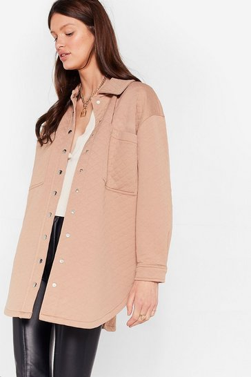 Sand Acting All Quilty Longline Shirt Jacket