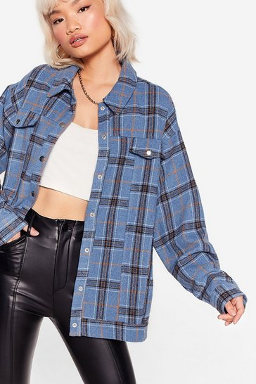 Blue Line is On Your Side Check Shirt Jacket