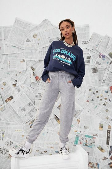 Navy Colarado Oversized Graphic Sweatshirt