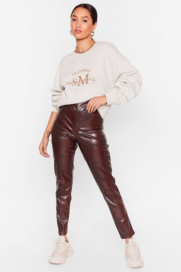 Chocolate Snake 'Em Stop and Stare Petite Leggings