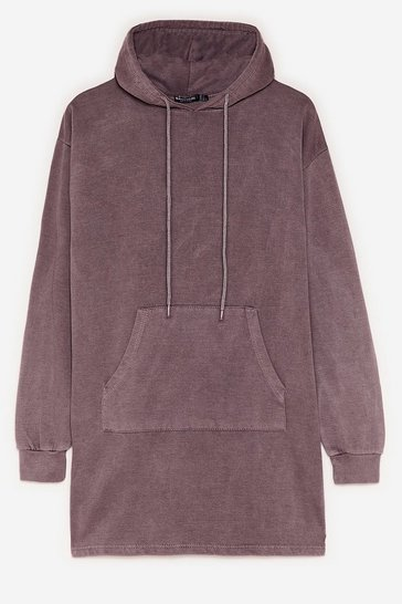 Chocolate Hey Pull Over Oversized Hoodie Dress