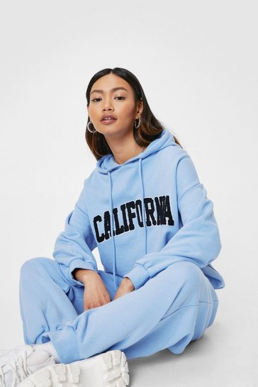 Baby blue California Callin' Petite Joggers Lounge Set