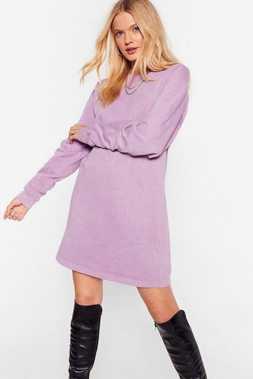 Mauve Don't Sweat the Small Stuff Sweatshirt Dress