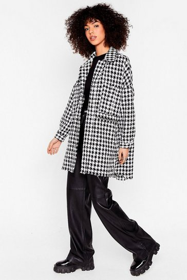 Black We Knew Tweed Win Oversized Shirt Jacket