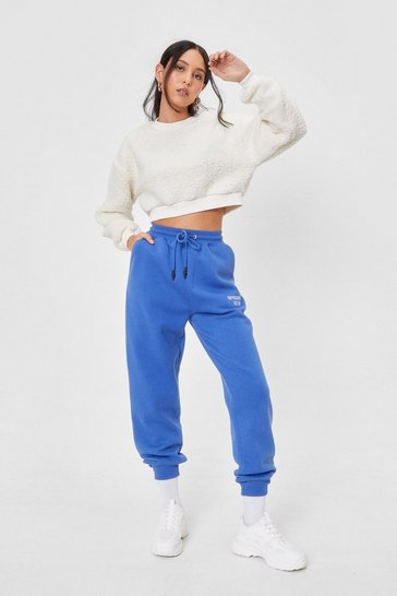 Cream Borg of You Relaxed Cropped Sweatshirt