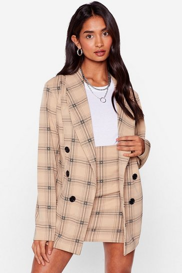 Stone Alway's Workin' Oversized Check Blazer