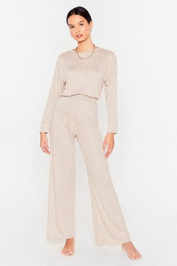 Stone Rib's Been a While Top and Wide-Leg Pants Set