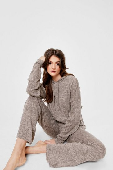 Stone Splitting Our Time Hoodie and Wide-Leg Pants Set