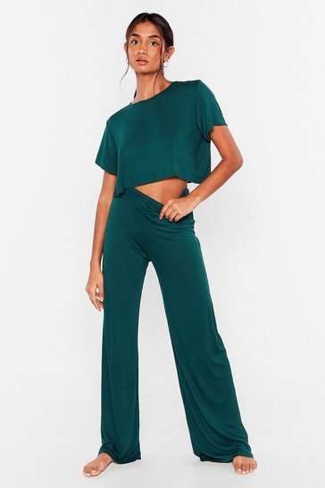 Emerald Tee Be Continued Tee and Pants Pajama Set