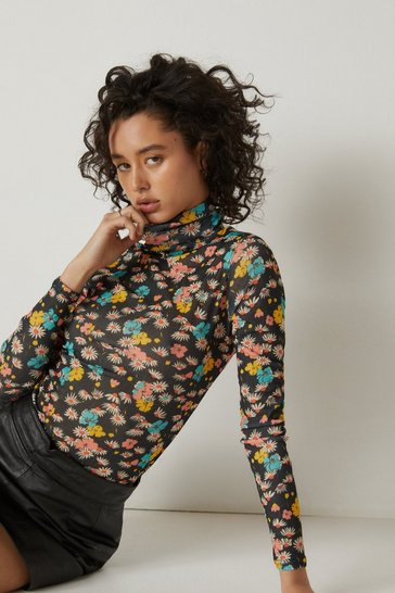 Black Relaxed Top and Wide Leg Pants Pajama Set