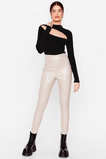 Stone In the Tight Direction Faux Leather Leggings