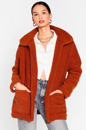 Ginger Teddy Faux Fur Coat