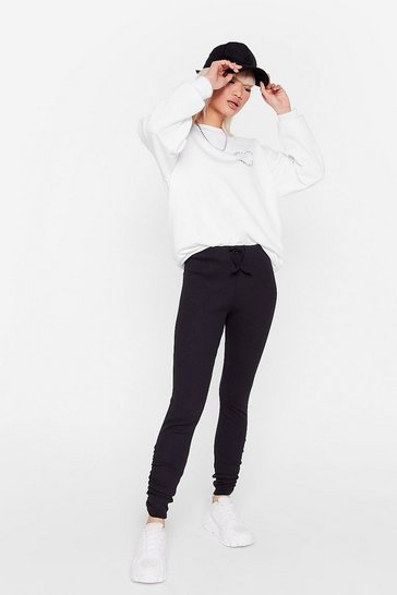 Black The High Life Petite Ruched Leggings