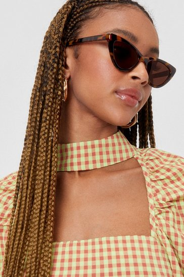 Brown What's Up Pussycat Leopard Cat-Eye Sunglasses