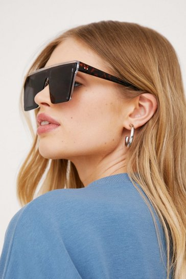 Black Square Oversized Tinted Sunglasses