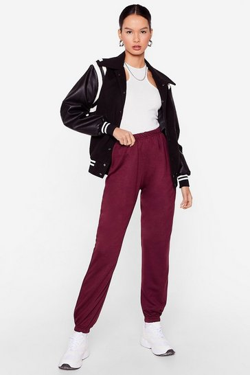 Burgundy Jog the Limelight Stretch Joggers