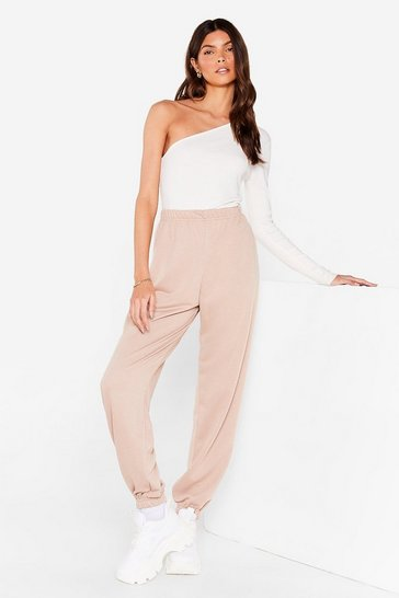Light brown Jog the Limelight Stretch Joggers