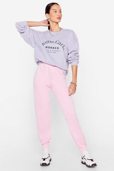 Light pink Jog the Limelight Stretch Joggers