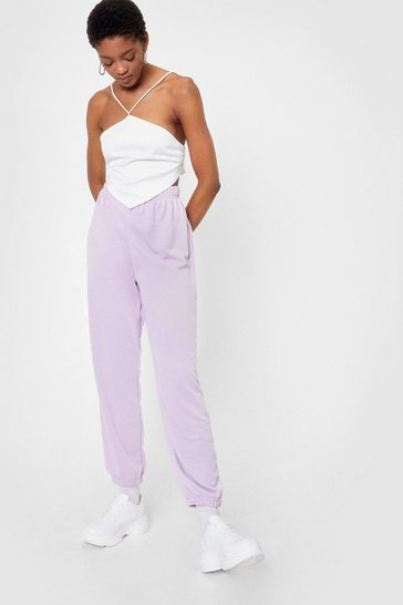 Lilac Jog the Limelight Stretch Joggers