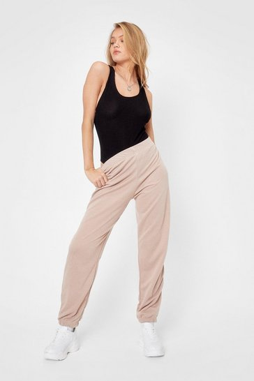 Taupe Jog the Limelight Stretch Joggers