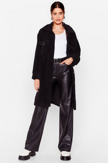 Black You Faux Fur the One Oversized Jacket