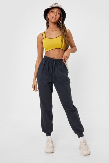 Black Oversized High Waisted Cargo Pants