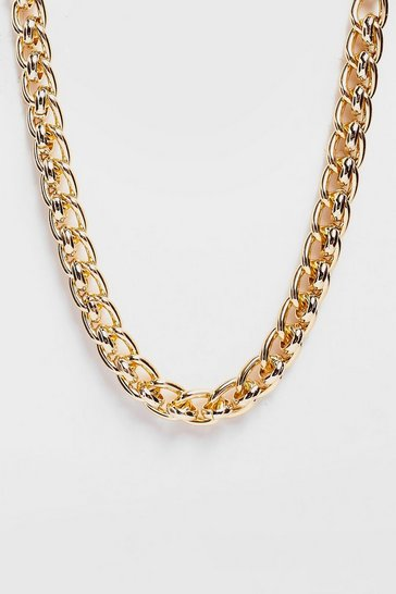 Gold Leave Me Hanging Chunky Chain Necklace