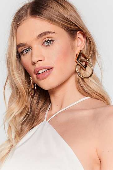 Gold We'll Link About It Hoop Drop Earrings