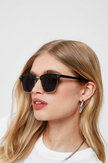 Black Tinted Lense Aviator Sunglasses