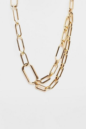 Gold Layered Chunky Chain Necklace
